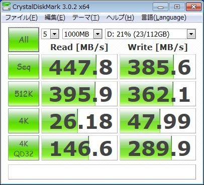 Toshiba SSD ベンチマークテスト