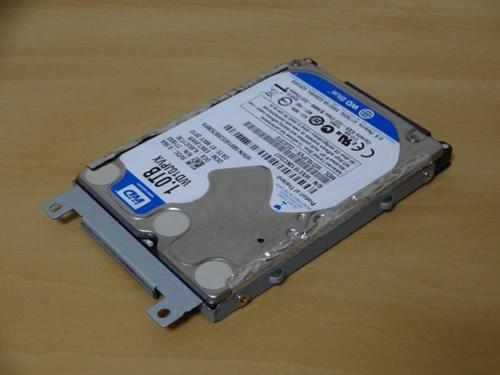 ハードディスクを付け替え